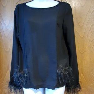 Zara black fringe shirt